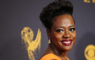 Viola Davis shows off her celebrity smile at an event