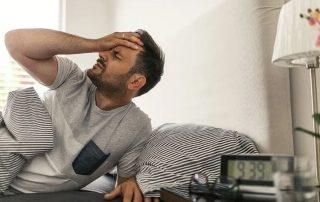Man wakes up with a headache